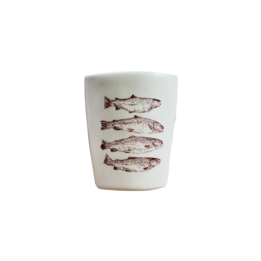 Ceramic Demitasse Cup - Trout