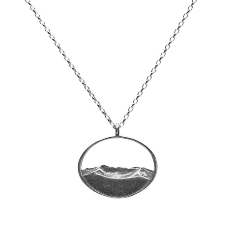 Mount Mansfield Silver Silhouette Pendant