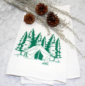 Flour Sack Tea Towel - Camping