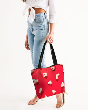Popcorn Canvas Zip Tote