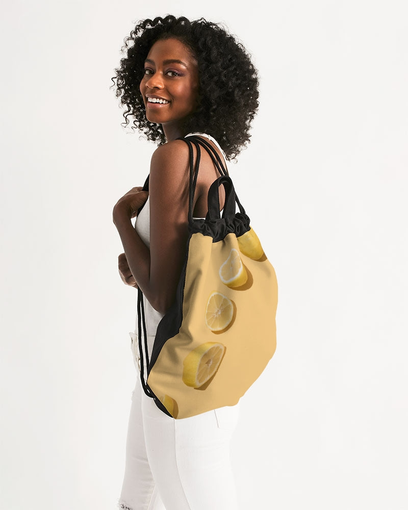 Lemons Canvas Drawstring Bag