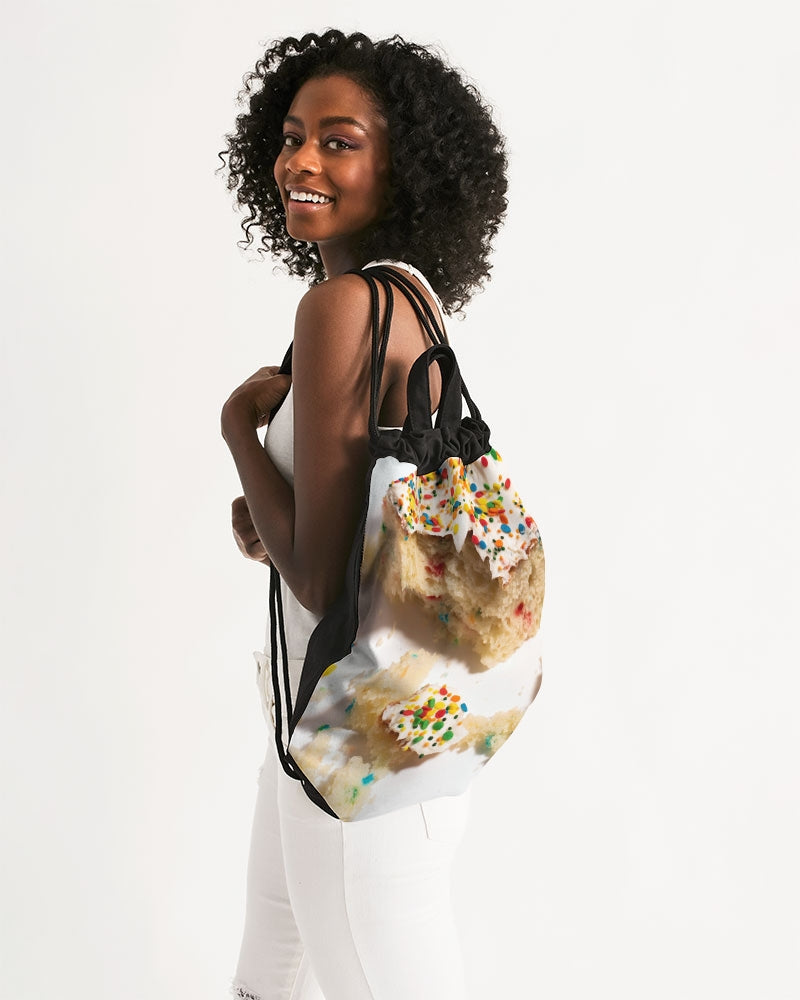 Funfetti Canvas Drawstring Bag