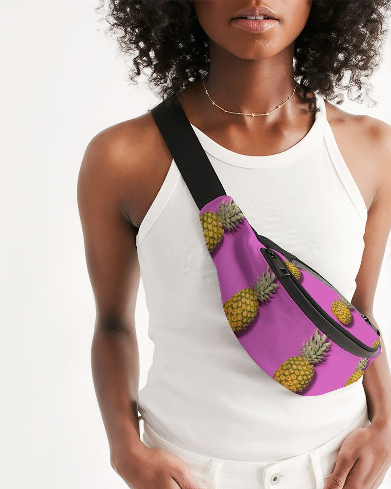 Tiled Pineapples Crossbody Sling Bag