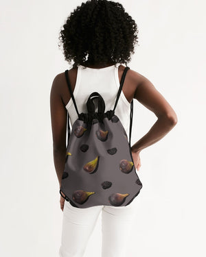 Figs and Berries Canvas Drawstring Bag
