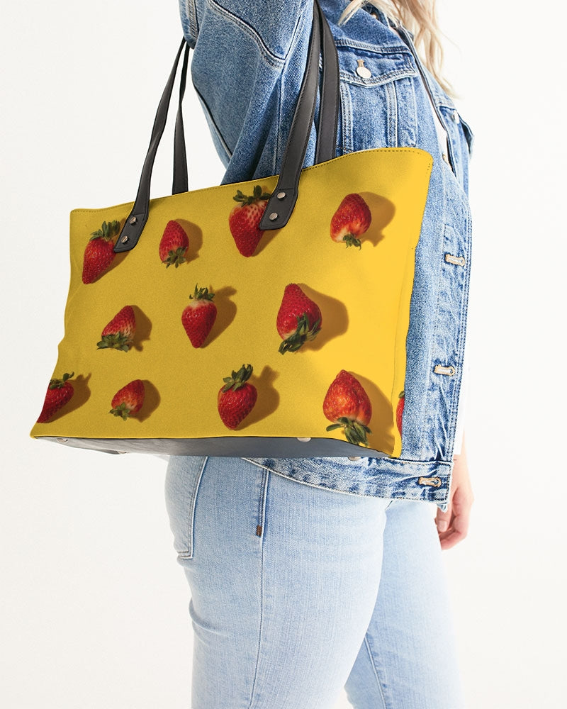 Bright Strawberries Stylish Tote