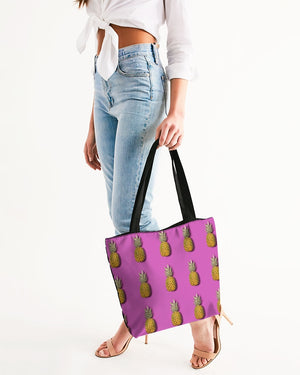 Tiled Pineapples Canvas Zip Tote