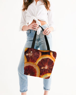 Blood Oranges Canvas Zip Tote