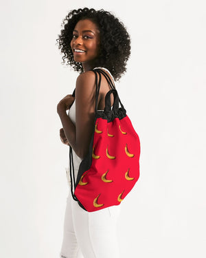 Tiled Bananas Canvas Drawstring Bag