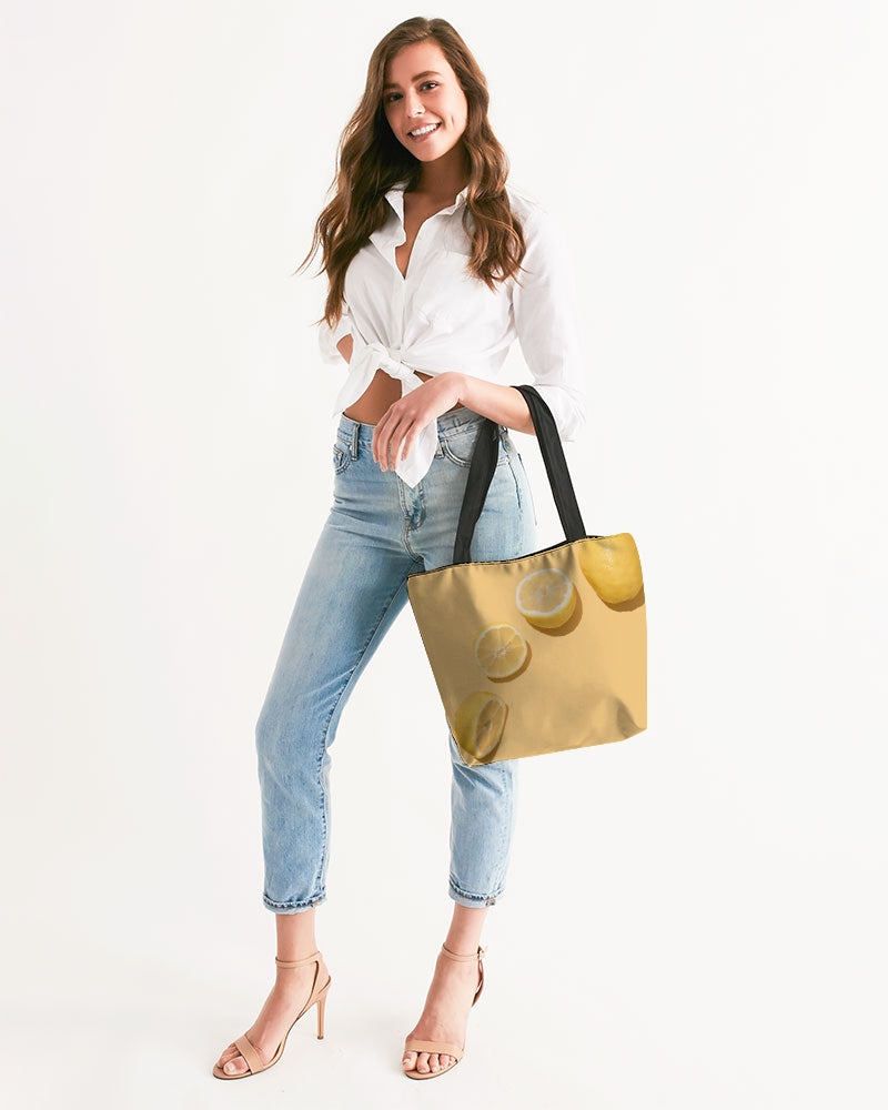 Lemons Canvas Zip Tote