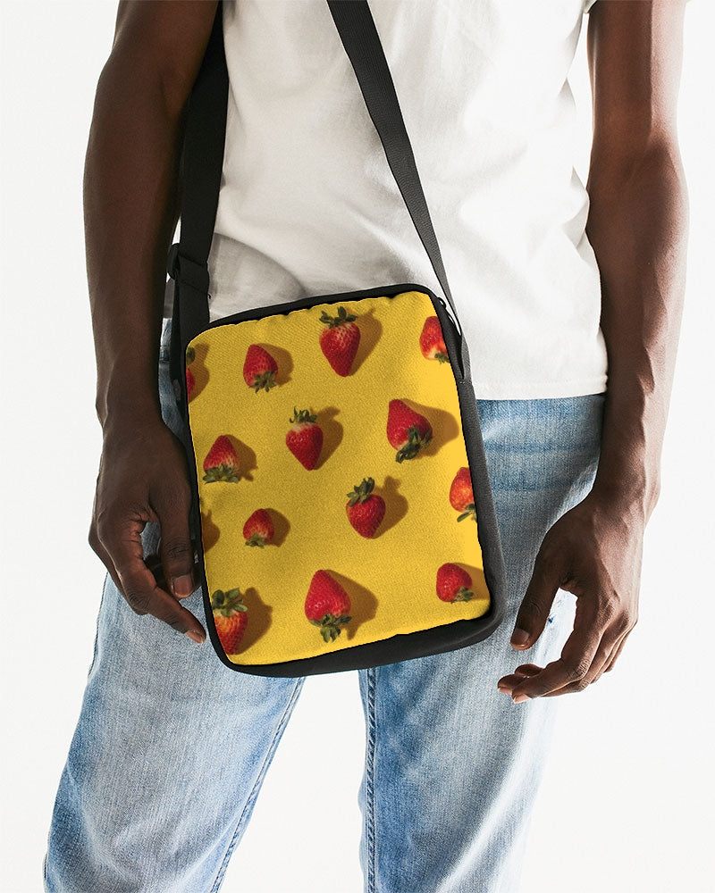 bright strawberries Messenger Pouch