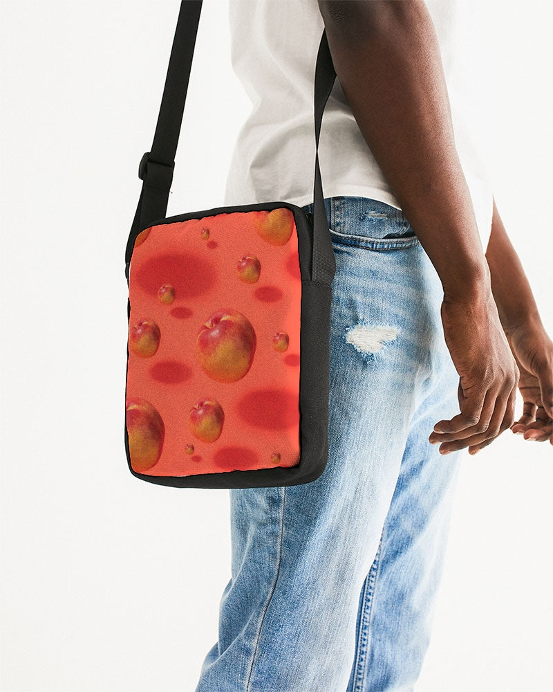 Floating Nectarines Messenger Pouch