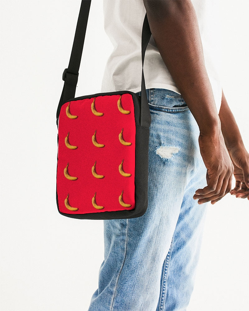 Tiled Bananas Messenger Pouch