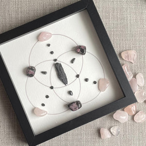 Acceptance & Forgiveness Framed Crystal Grid
