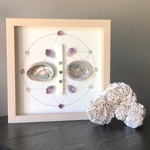 Load image into Gallery viewer, Full Moon Framed Crystal Grid