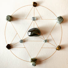 Load image into Gallery viewer, Wisdom Framed Crystal Grid