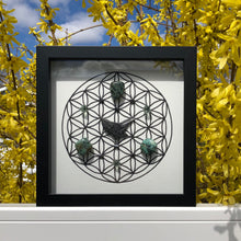 Load image into Gallery viewer, 5D Ascension Framed Crystal Grid