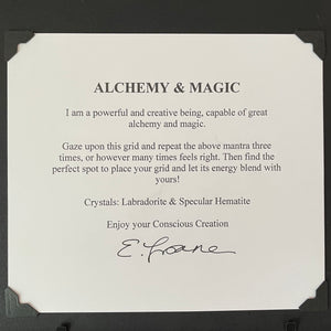 Alchemy & Magic Framed Crystal Art