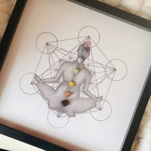 Custom Create Your Own Framed Crystal Grid