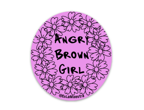 Angry Brown Girl Vinyl Sticker