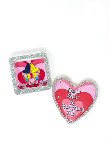 Diamond encrusted Ashtray and heart coaster set Ali 6 and La Maestra collab