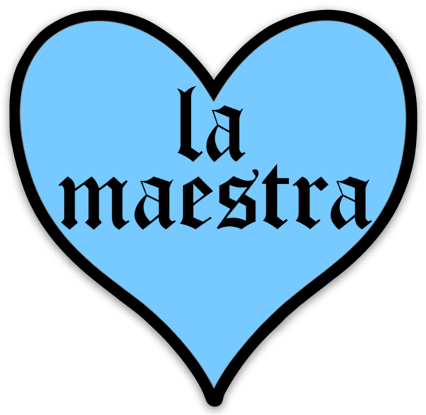 La Maestra Heart Sticker