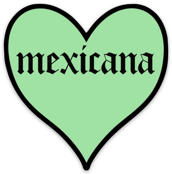 Mexicana Heart Sticker