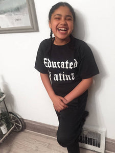 Educated Latina Childrens Tee
