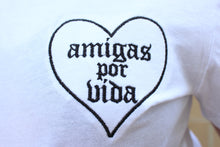 Load image into Gallery viewer, Amigas Por Vida Embroidered tee
