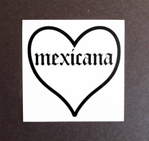 With Love Heart Stickers Mexicana