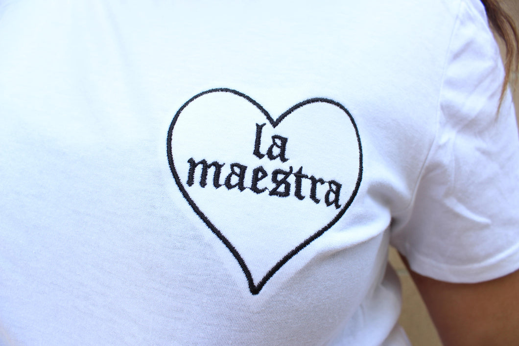 La Maestra Embroidered Tee
