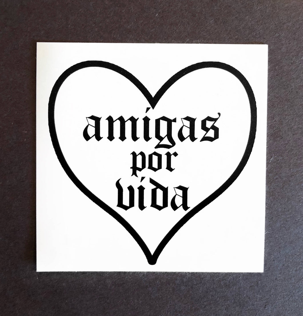 With Love Heart Stickers Amigas Por Vida