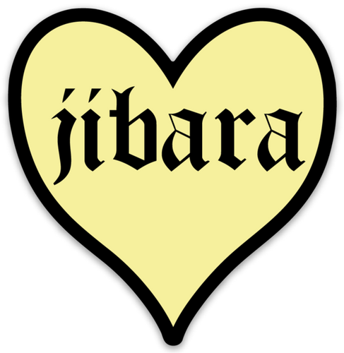 Jibara Heart Sticker