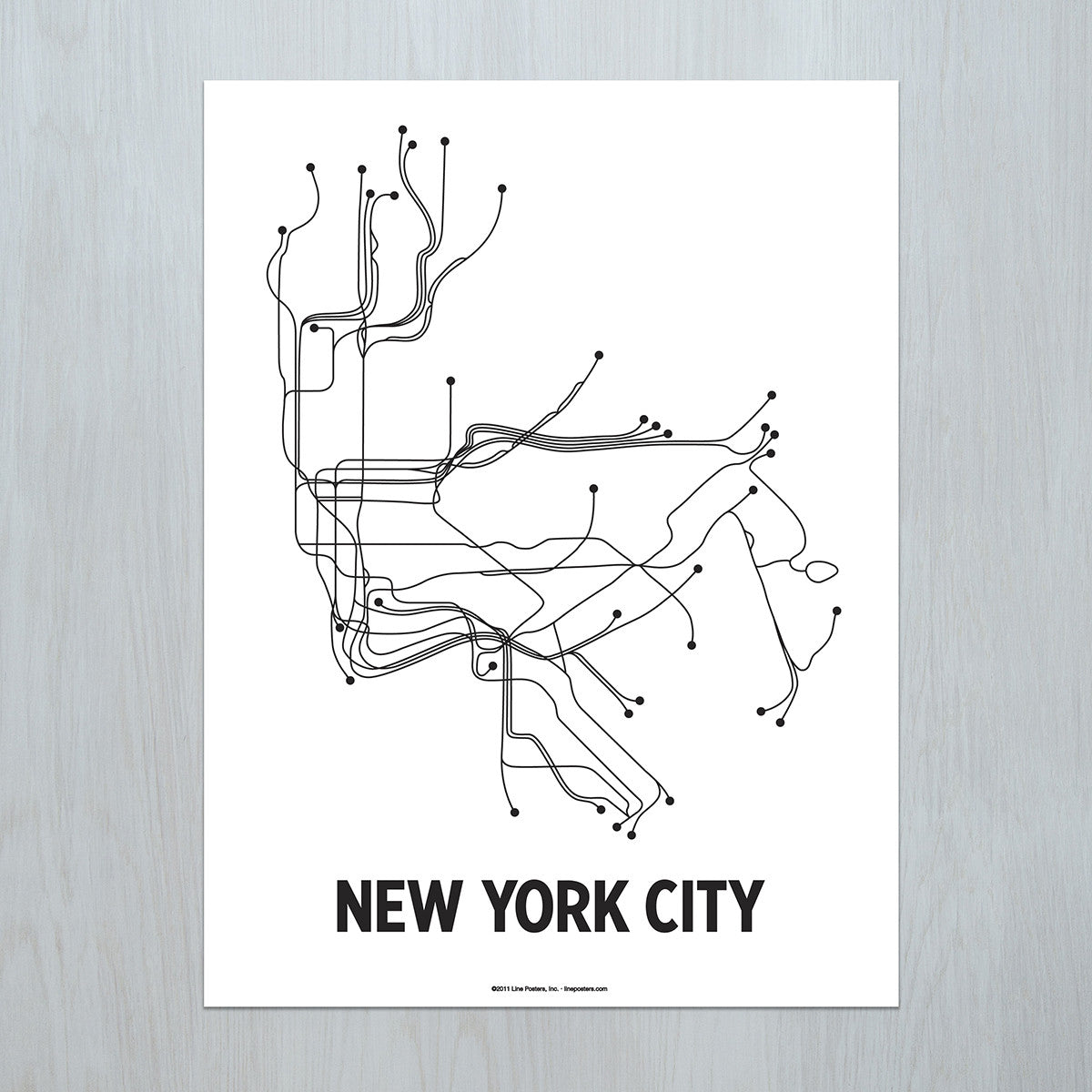 Toronto Subway Map Poster.New York City Poster Lineposters