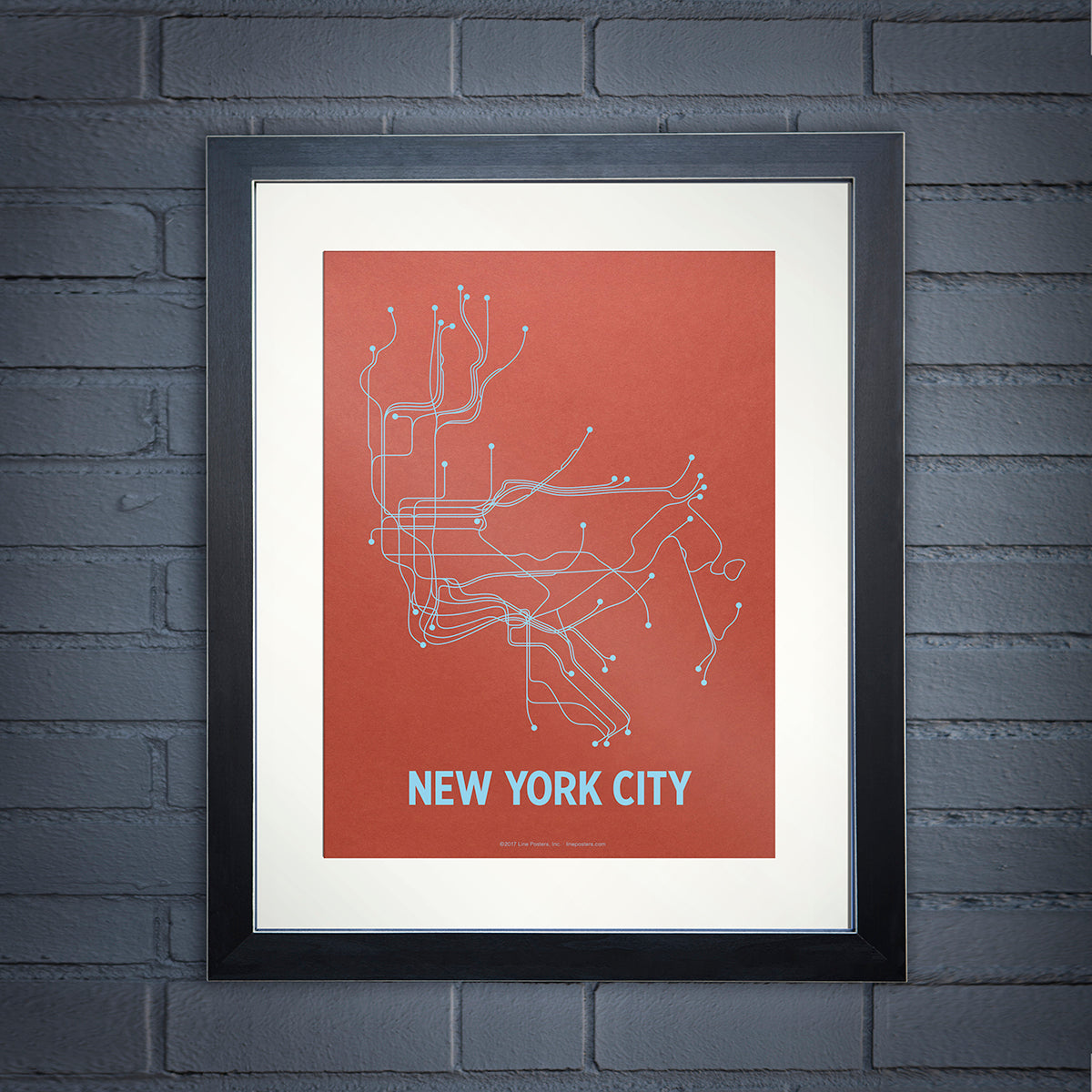 Boston Subway Map Poster.New York City Poster Lineposters