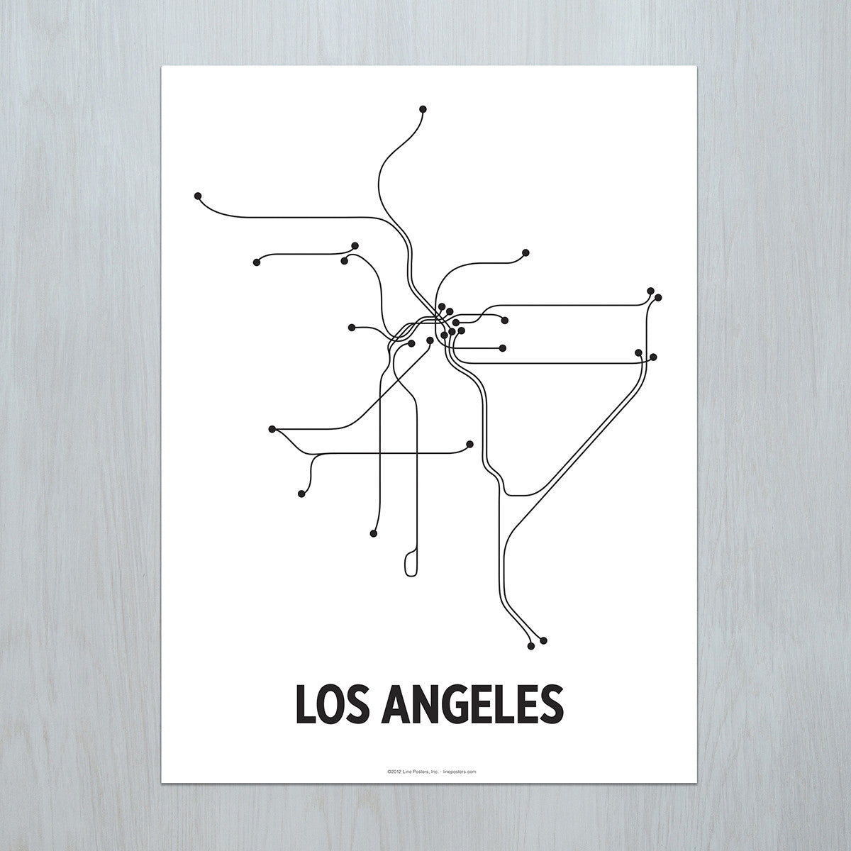Los Angeles Poster  LinePosters - Los angeles poster black and white