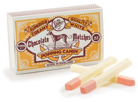 Popping Candy White Chocolate Matchsticks
