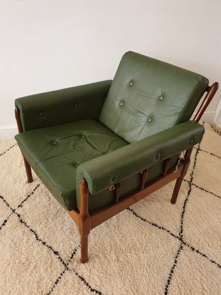 Green Leather Armchair