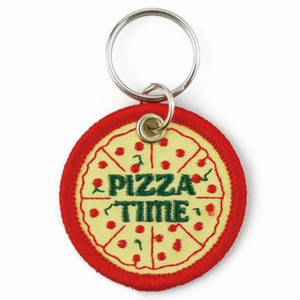 Pizza Patch Keyring