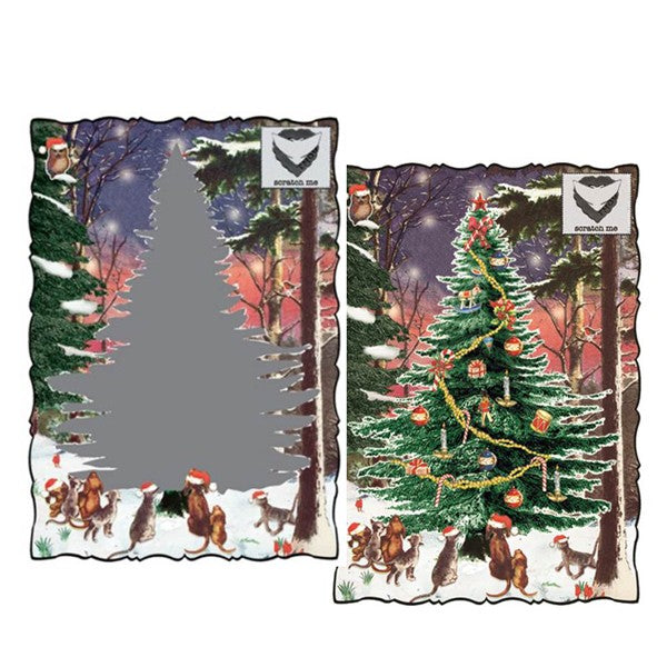 Christmas Tree Scratch Card