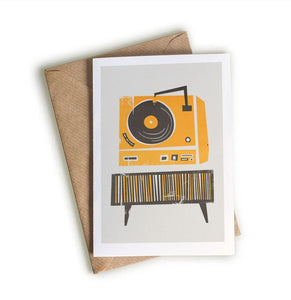 Record Player Card