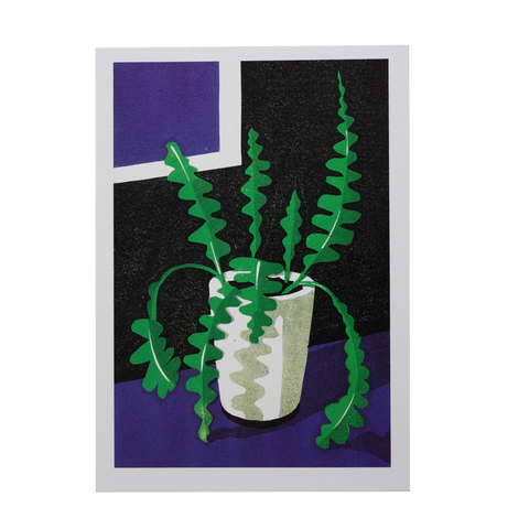 Fish Bone Cactus Card