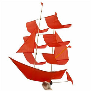 Sailing Ship Kite - Flame Red