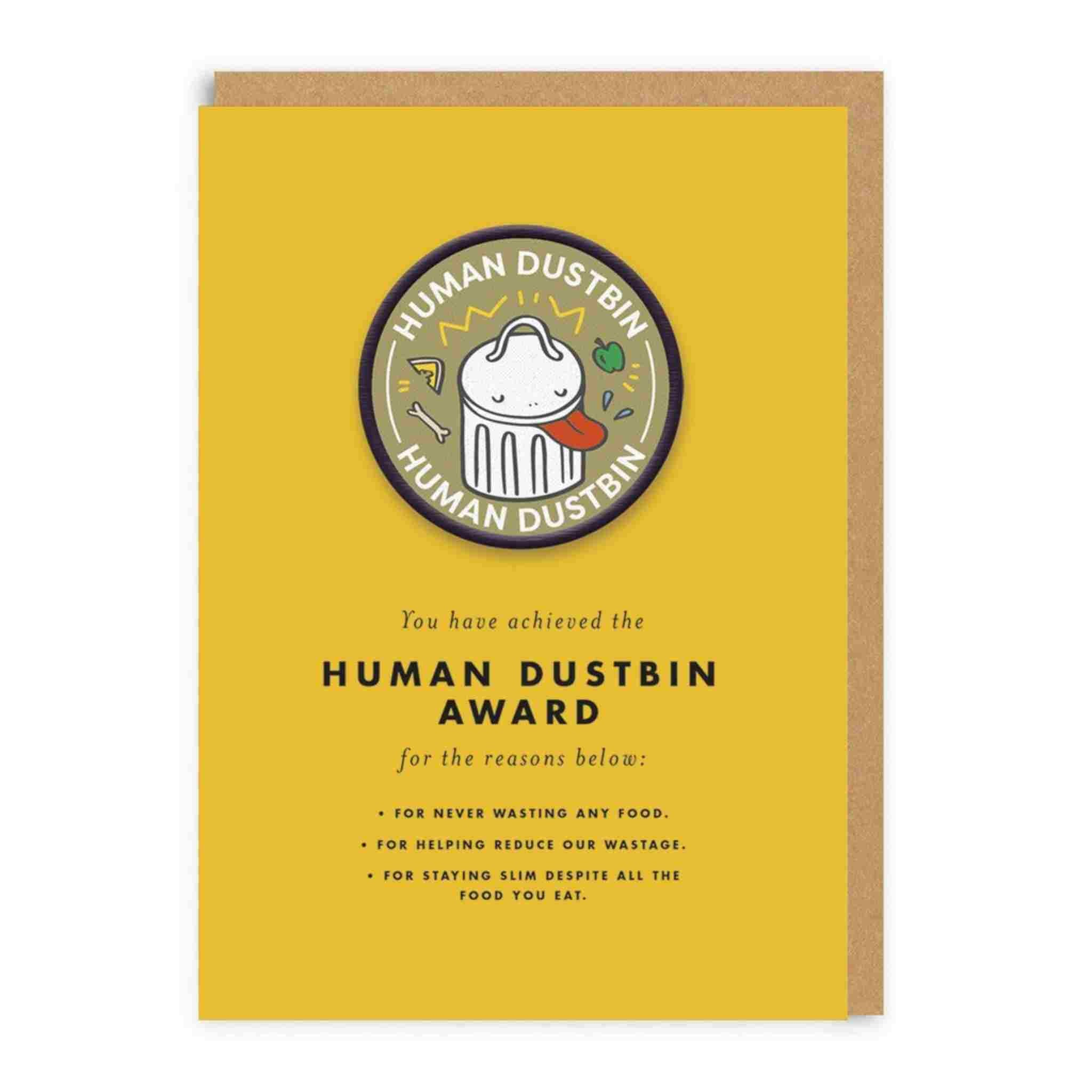 Human Dustbin Patch Card