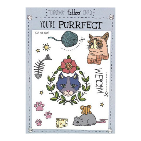 Cat Tattoo Card