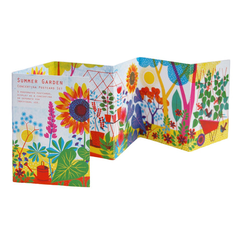 Concertina Postcard Set - Summer Garden