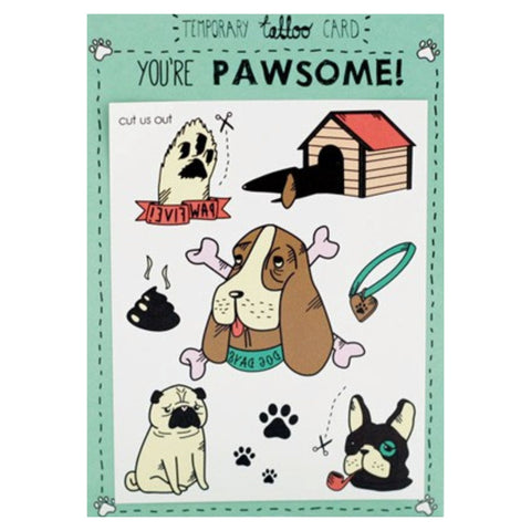 Dog Tattoo Card
