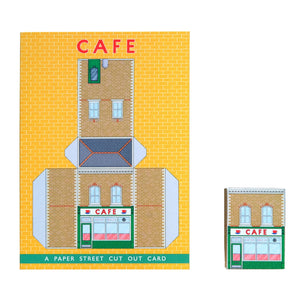 Paper Street Cut Out Card - Café