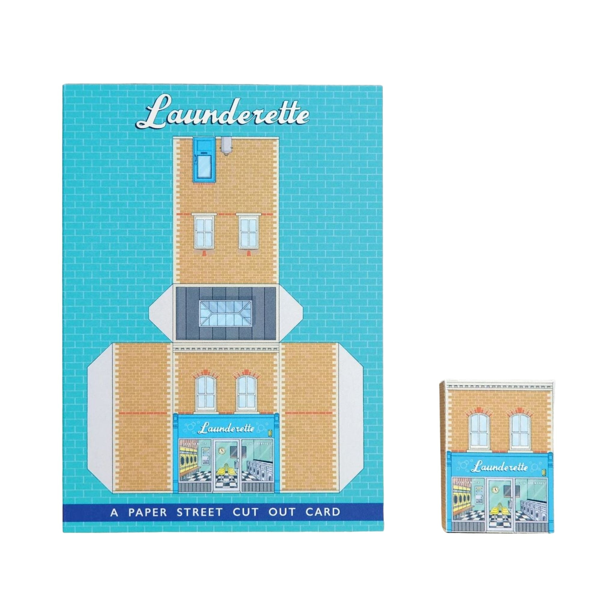 Paper Street Cut Out Card - Launderette