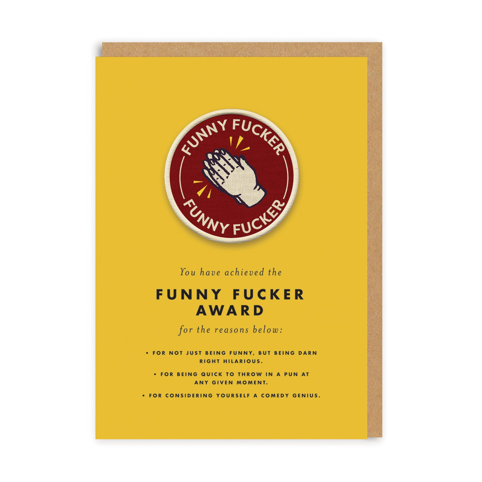 Funny F***** Patch Card