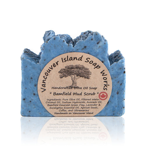 Slough away dead skin to leave your body feeling smooth and smelling fresh. This clay-rich, lavender and eucalyptus soap is a delightful way to promote healthy skin. Handmade, natural, vegan, olive oil soap. Made on Vancouver Island in BC, Canada.